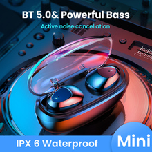 FIVI Bluetooth 5.0 Earphones Wireless Headphones Sport Waterproof Headsets Noise Cancelling Gaming Earbuds For iPhone Xiaomi