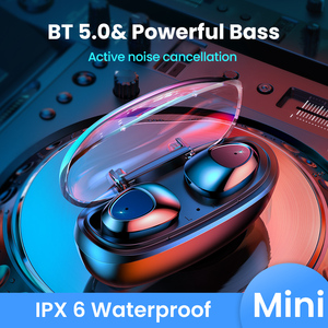 Image 1 - FIVI Bluetooth 5.0 Earphones Wireless Headphones Sport Waterproof Headsets Noise Cancelling Gaming Earbuds For iPhone Xiaomi