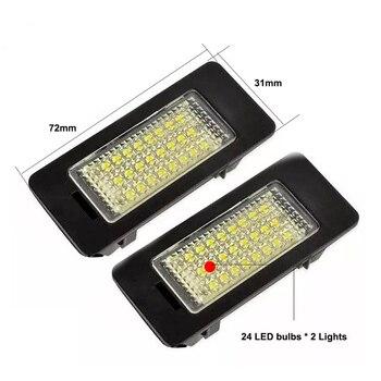 LED voiture Feux De Plaque D'immatriculation numéro plaque porte-lampe Pour BMW E81 E82 E90 E91 E92 E93 E60 E61 E39 X1 E84 X5 E70 X6 E7 lumière automatique