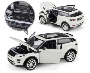Image 3 - מגף דגם רכב 1:24 Scale Diecast רכב לנד רובר ריינג רובר Evoque SUV סימולטור מתכת סגסוגת צעצוע מכונית עבור ילד מתנת אוסף