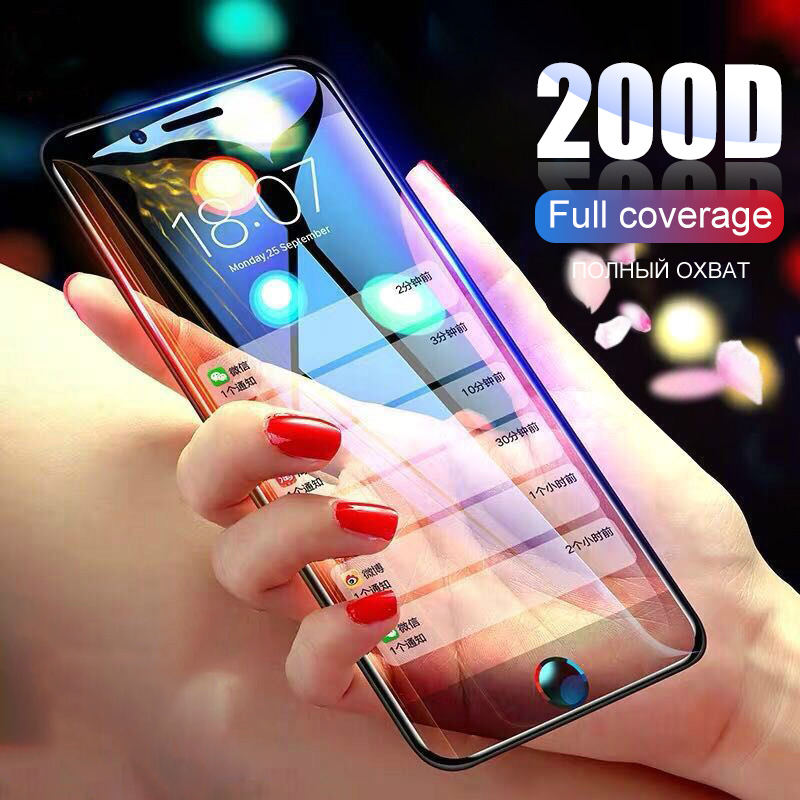 200D Curved Tempered Glass For IPhone 11 Pro Max Protective Glass On For IPhone X XS Max XR 6 6s 7 8 Plus 11 Screen Protector