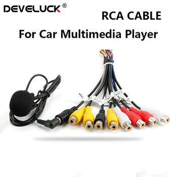 Develuck Universal Car Stereo Radio RCA Output Wire Aux-in Adapter Cable with microphone Video output/input Audio Subwoofer counter cyclical output stabilization in nigeria