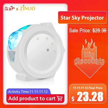 Star Sky Projector Star Night Light Projection 6 Colors Ocean Waving Lights 360 Degree Rotation Night Lighting Lamp for Kids