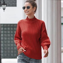 Winter Knitted Turtleneck Sweater Women 2020 Autumn Casual Knitted Pullover Long Sleeve Elasticity Sweater Tops 2020 Ropa Mujer rohopo semi high collar puff long sleeve pullover sweater vertival ribbed elasticity waistband knitted thick tops 2314