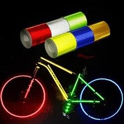 Cinta adhesiva reflectante de marca de seguridad de 5cm x 3m cinta de advertencia autoadhesiva de estilo de coche Material reflectante de motocicleta de automóviles