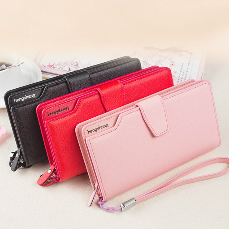 Women Wallets Female Candy Colors Wallet Leisure Purse 3Fold Top Quality Women's Wallet Long Coin Purse Many Card Slot Wallets