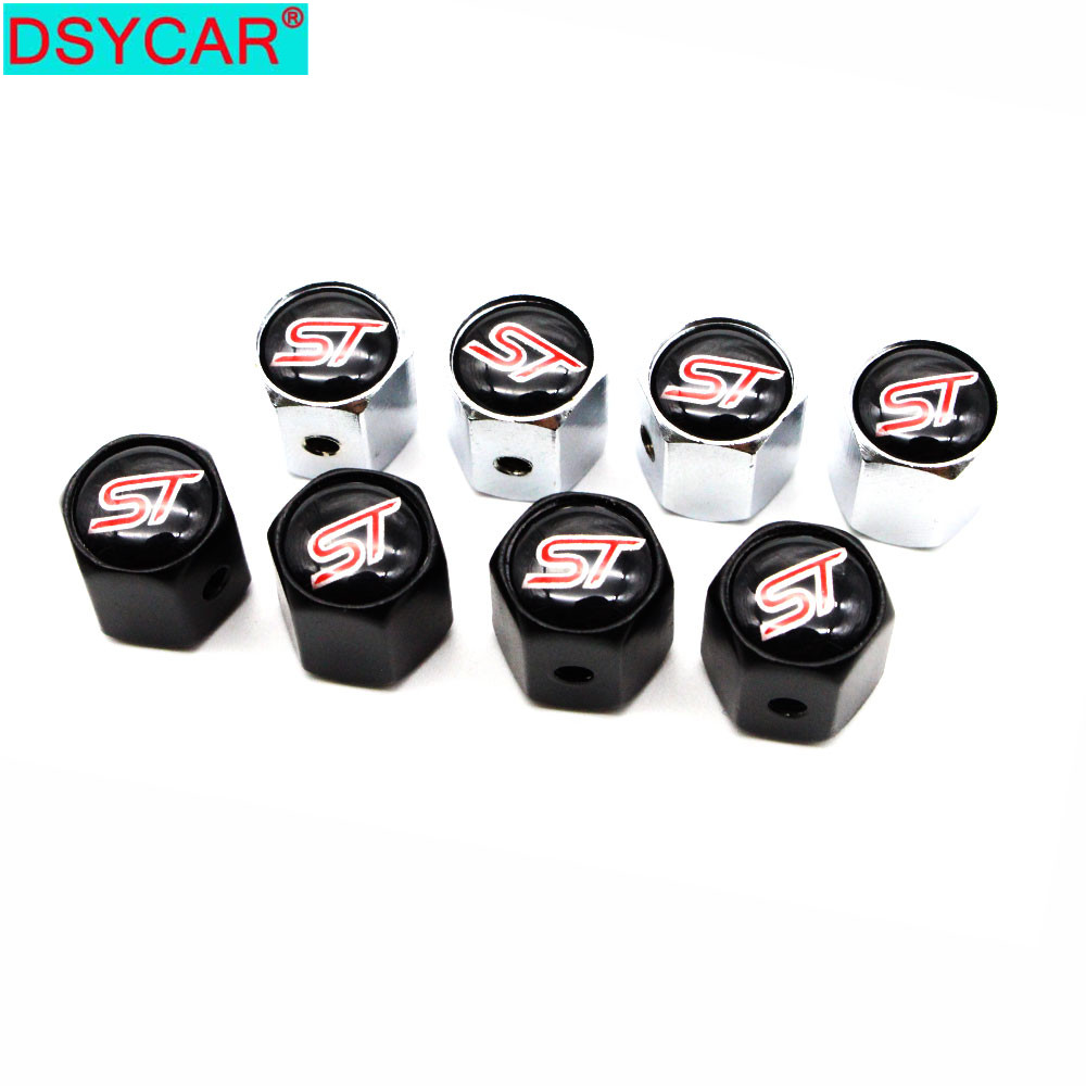 DSYCAR 1Set Car Styling Zinc Alloy Anti-theft Style Car Tire Valve Caps Wheel Tires Tire Stem Air Cap Airtight Covers