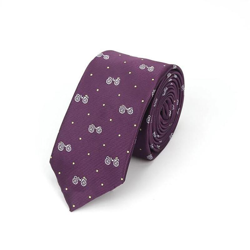 2020 Brand New Tie For Men Polyester Jacquard Animal Necktie For Wedding Business Suits 6cm Skinny Dot Neck Ties Slim Gravatas
