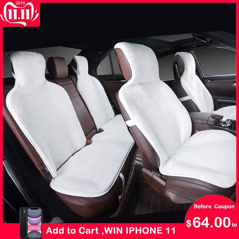 Fabulous Super Sale Faux Fur Car Seat Covers Universal Siz For All Alphanode Cool Chair Designs And Ideas Alphanodeonline
