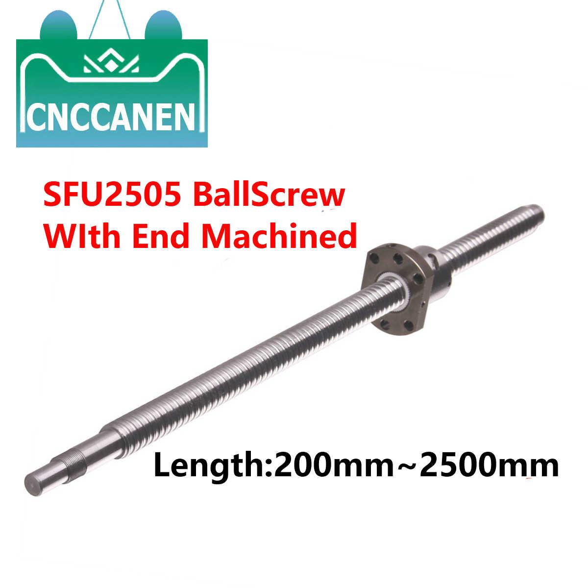 BK//BF15 end bearing support CNC 1 anti backlash 20mm ballscrew RM2005-600mm-C7