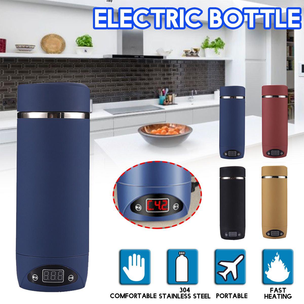 Portable Mini bouilloire électrique voyage eau chauffage tasse chauffage ragoût 304 acier inoxydable théière ragoût Quikly cuiseur tasse bouillante