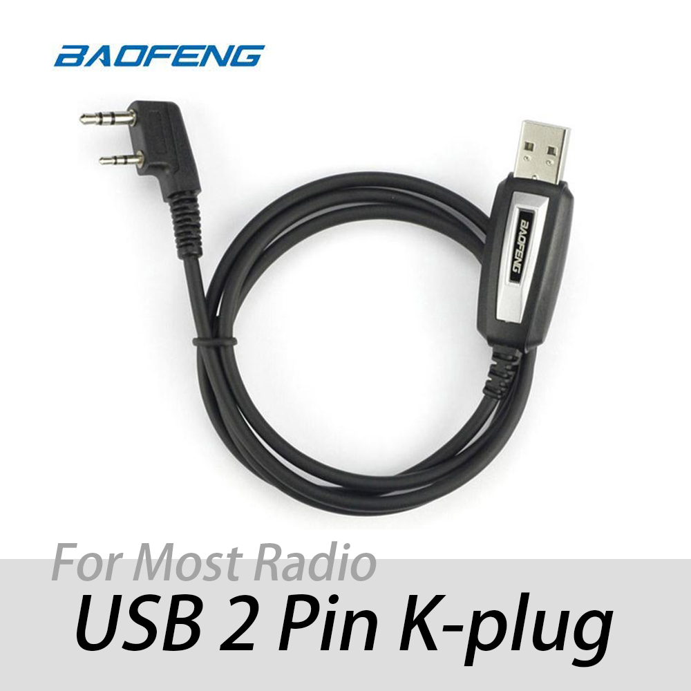 USB Programming Cable 2 Pins For Baofeng GT-3/DMR UV-82 UV-5R DM-5R BF-888s For TYT  Ham Two-way Radio