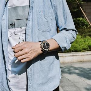 Image 5 - Watch Men BENYAR Fashion Sport Quartz Clock Mens Watches Top Brand Luxury Business Waterproof Leather Watches Relogio Masculino