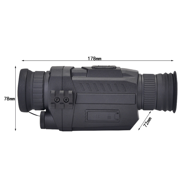 WG535 Digital Night Vision Monoculars 200m full dark DVR NIght Vision Scope 5X Optical Magnification Photo Video Hunting Cameras 4
