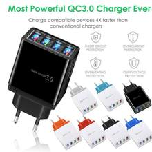4 Port Fast Quick Lading Qc 3.0 Usb Hub Wall Charger 3.5A Power Adapter Us Plug Travel Telefoon Batterij Opladers socket #401(China)