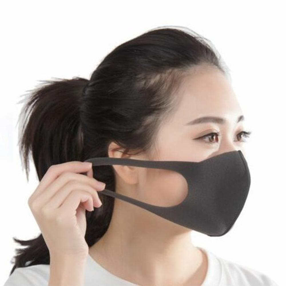 3pcs Regular Size Black Pitta Mask Dark Gray Japan Anti-Pollution/Dust Face Mask