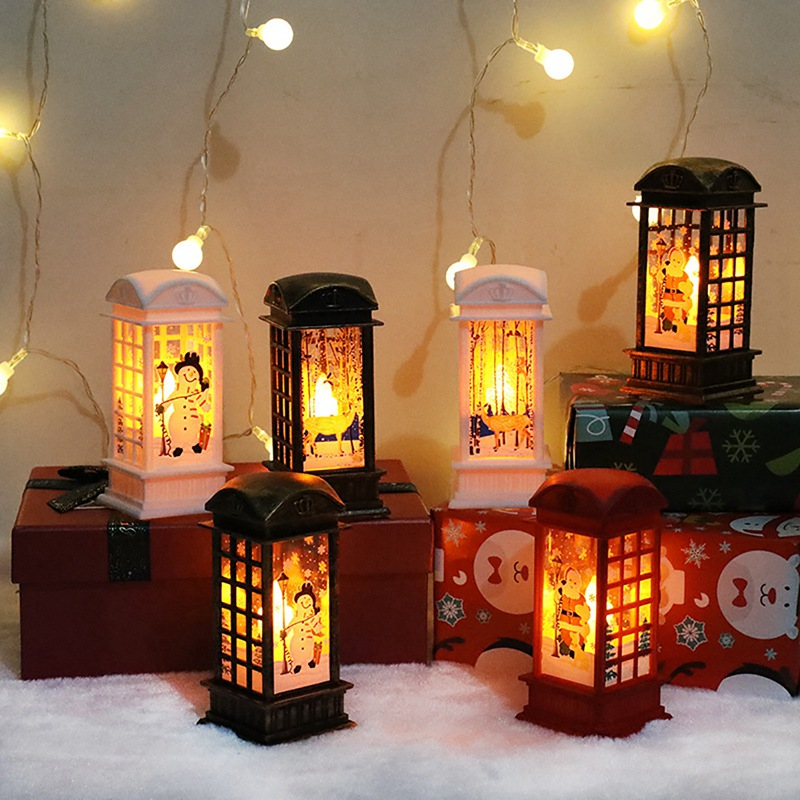 Merry Christmas Snowman Santa Claus LED Light Ornament ...