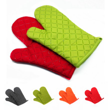 1pcs Silicone Lattice Baking High Temperature Oven Microwave Oven Gloves Insulation Non-slip Thickening Long Gloves 4pcs13 13cm thickness 0 4mm universal cuttable insulation high temperature insulation mica sheet microwave oven insulation sheet