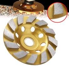 1PC 100mm Diamant Schüssel Schleifen Disc Segment Tasse Schleifen Rad Beton Grinder Disc Granit Stein Keramik Werkzeuge