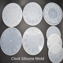 Mold Casting-Molds Crafts Handmade Epoxy Resin DIY Clear Home Clock Numerals Constellation
