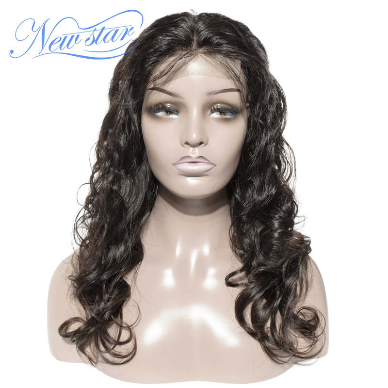 Brazilian Body Wave Bundles With 4x4 Closure Wig New Star Virgin Human Hair Wigs Glueless Pre Pluck Hairline Lace Wigs