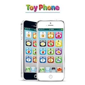 Machine Educational-Toys Simulation Music-Lights Mobile-Phone Touch-Screen English Children's
