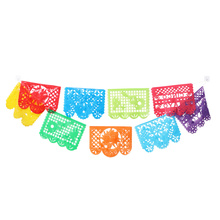 Banners Papel Skeleton Square Garland-Bunting Day-Of-The-Dead-Decoration Mexican Picado