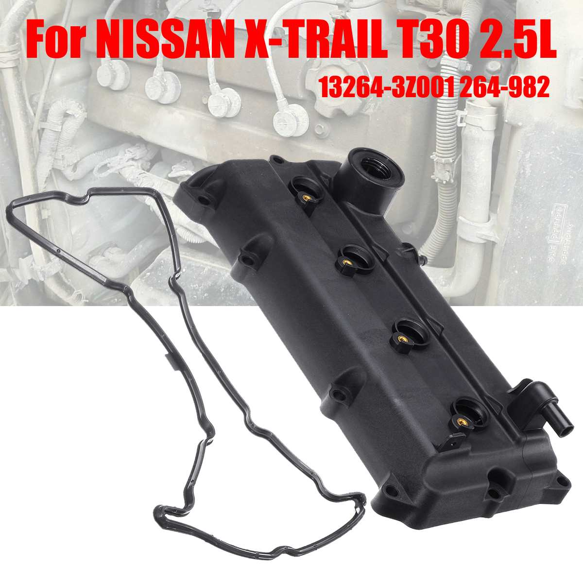 NEW Engine Valve Cover /& Gasket For Nissan Altima X-Trail T30 QR20DE QR25DE`