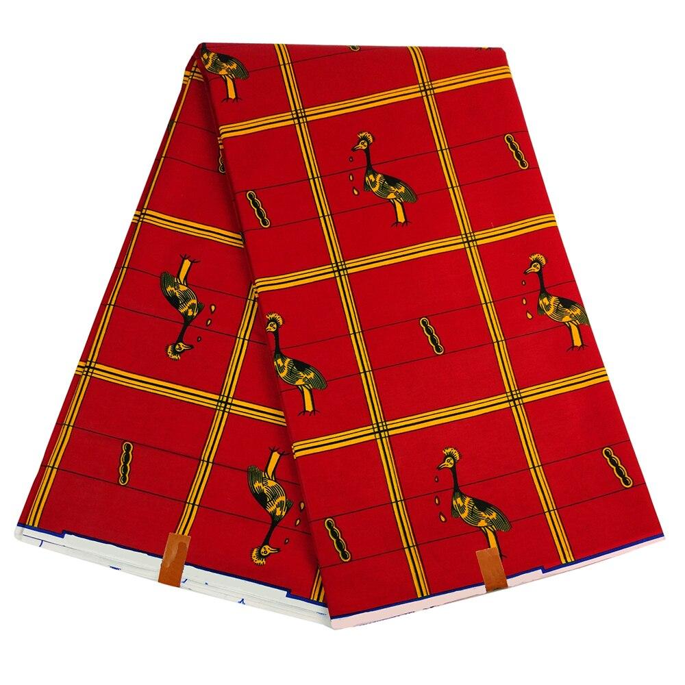 Veritable Wax High Quality 2019 African Dutch Wax Fashion Design For Women Dress African Red Print Fabric
