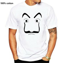 Salvador Dali Mask T-shirt Money Heist The House of Paper La Casa De Papel Cosplay Halloween Tokyo Rio Professor Oslo Tee Shirt