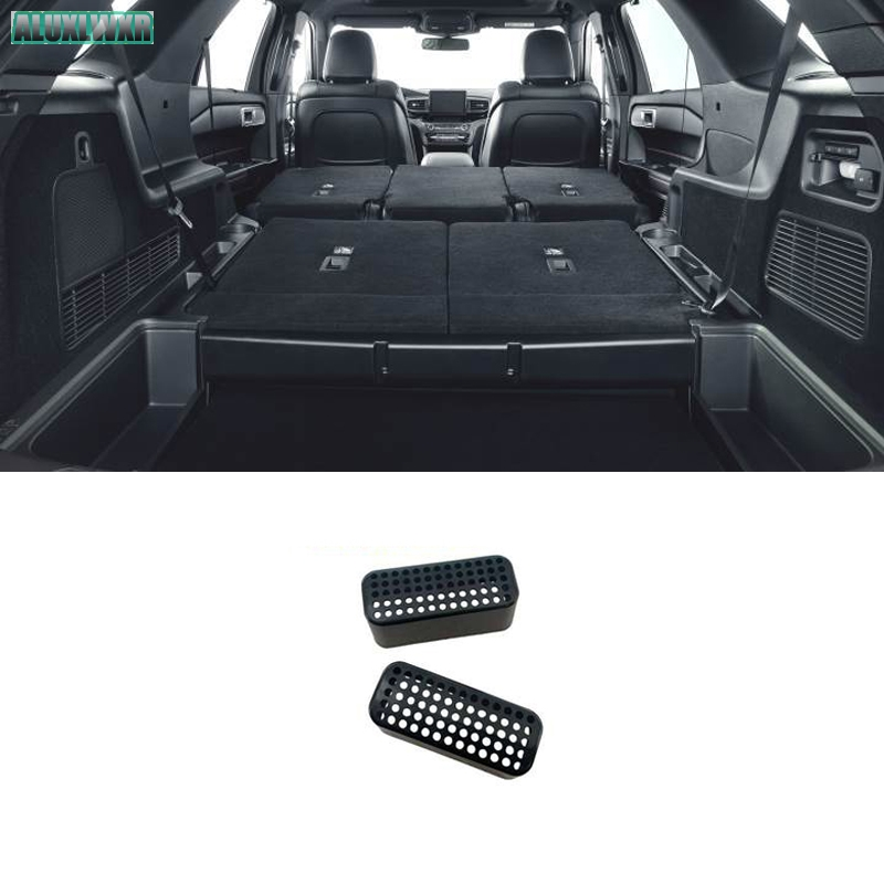 Seat AC Heat Floor Air Conditioner Duct Vent Outlet Grille Cover car Accessories For Ford Explorer ST 2020 2021 car-styling