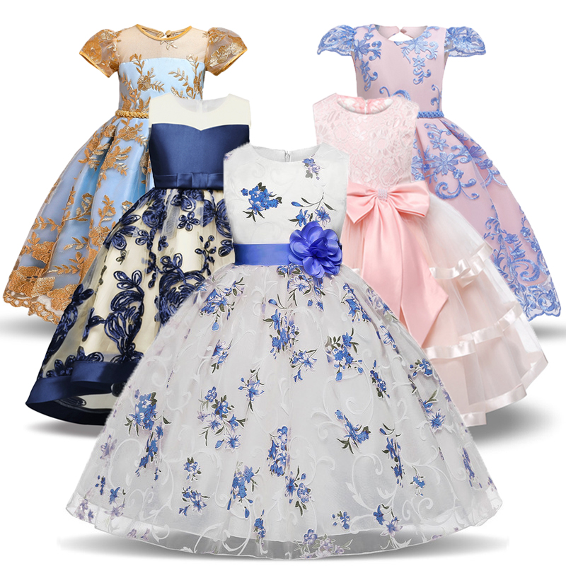 Christmas Girls <font><b>Dress</b></font> Bridesmaid Kids <font><b>Dresses</b></font> For Girls Clothes Wedding Elegant <font><b>Party</b></font> Gown Tutu Children <font><b>Princess</b></font> <font><b>Party</b></font> Custumes image