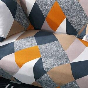 Image 5 - ทั้งหมด ห่อผ้าคลุมเตียงโซฟาพิมพ์ยืดที่นอนสำหรับมุมโซฟาเดี่ยว/2/สาม/สี่ที่นั่ง