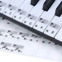 88 مفاتيح شفافة مفتاح ملاحظة ملصقات ل البيانو لوحة المفاتيح الإلكترونية ستاف ملاحظة ملصق ل الأبيض مفتاح ملصق لوحة المفاتيح دروبشيب