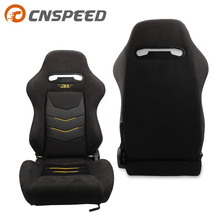 цена на OEM SPE Adjustable Bucket Seat And Bride Cloth Sport Racing Car Seat +Mounting Slider YC101454-BK