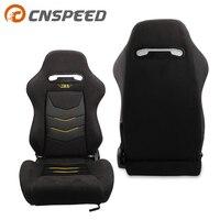 OEM SPE Adjustable Bucket Seat And Bride Cloth Sport Racing Car Seat +Mounting Slider YC101454 BK