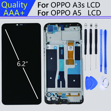 For 1520*720 6.2 Inch display OPPO A3s LCD Wite Frame display in Mobile