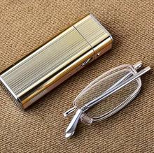 Składane przenośne okulary do czytania Anti Blu Anti zmęczenie naturalne szkło kryształowe obiektyw + 0 75 + 1 + 1 25 + 1 5 + 1 75 + 2 + 2 25 + 2 5 do + 4 tanie tanio Clara Vida WOMEN Unisex Jasne Gradient 824HU014 333inch ALLOY