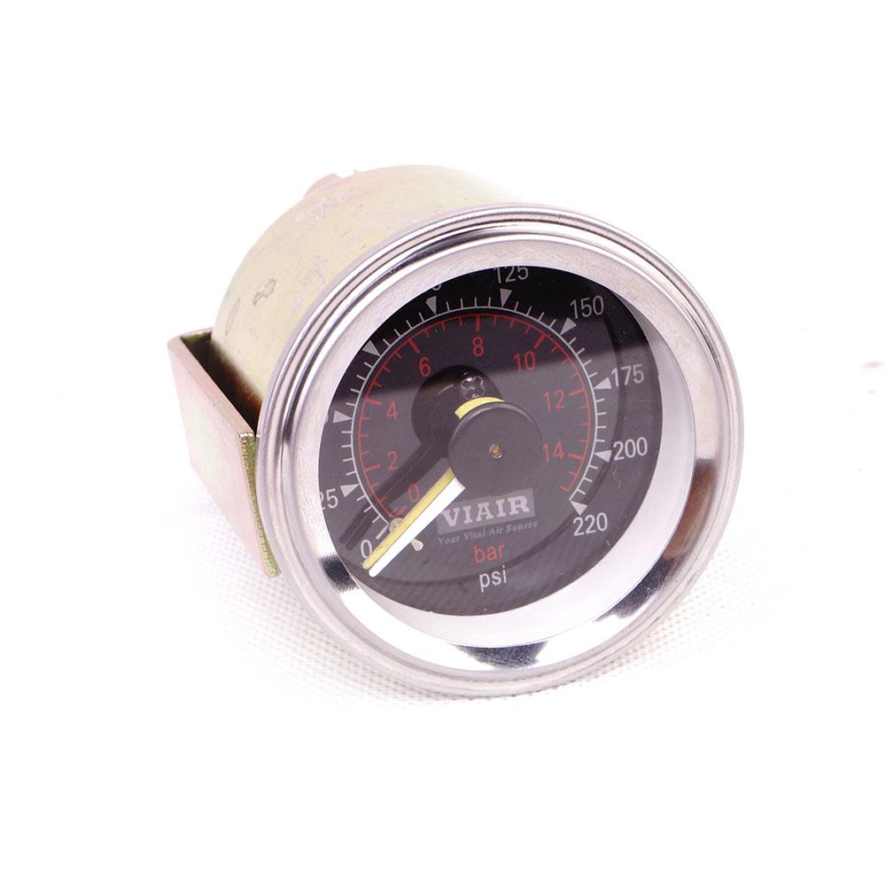 2inch  dia.52mm dual needle Air gauge/0-220PSI  with 12V backlight press gauge/VIAIR black barometer/pneumatic suspension part