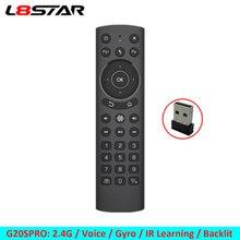 L8star G20S G20 ses hava fare için akıllı TV uzaktan kumanda 6 eksen jiroskop 2.4G hava fare için android tv kutusu mini pc projektör