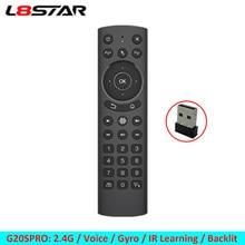 스마트 TV 원격 제어에 대 한 L8star G20S G20 음성 공기 마우스 안 드 로이드 tv 상자 미니 pc 프로젝터에 대 한 6 축 자이로 스코프 2.4G 공기 마우스