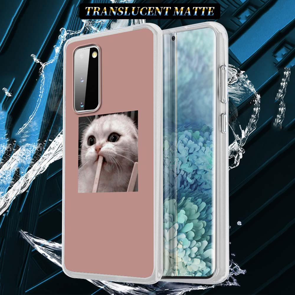 Cute Cat Silicone Case For Samsung Galaxy S21 S20 FE S10 S8 S9 Plus Note 20 9 8 10 Lite Soft Cover Shell Capa