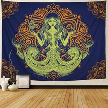 Mandala Tapestry Mermaid Bohemian Wall Indian Hippie Hippy Psychedelic Hanging for Living Room Bedroom