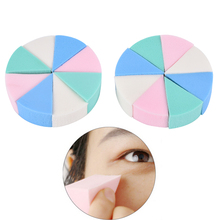 Cosmetic Puff Makeup-Sponge Face-Cleaning Magic Triangle-Shaped Soft 8pcs Candy-Color