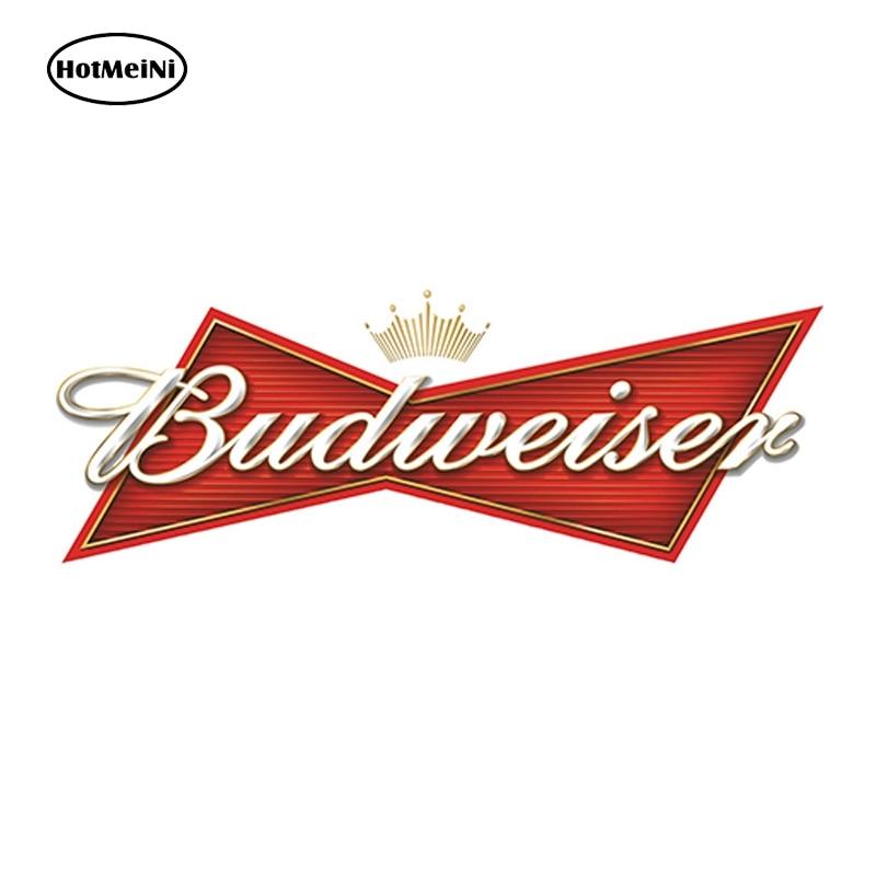 HotMeiNi 13cm X 4.6cm BUDWEISER Sticker Decal Beer Bumper Window Bar Wall Auto Motorcycle Sticker DIY Decoration