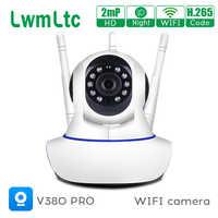 Mini cámara IP HD 1080P con Wifi y seguimiento automático, visión nocturna, Audio bidireccional, detección de movimiento, P2P, Monitor de seguridad para bebés, V380 pro