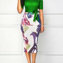 Women Dress Luxury Formal Business Office Slim Dress Midi Tu