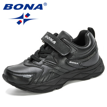 BONA 2020 New Designers Popular Sneakers Boys Girls Shoes Casual Running Shoes Children Sport Trainer Walking Shoes Kids Trendy недорого
