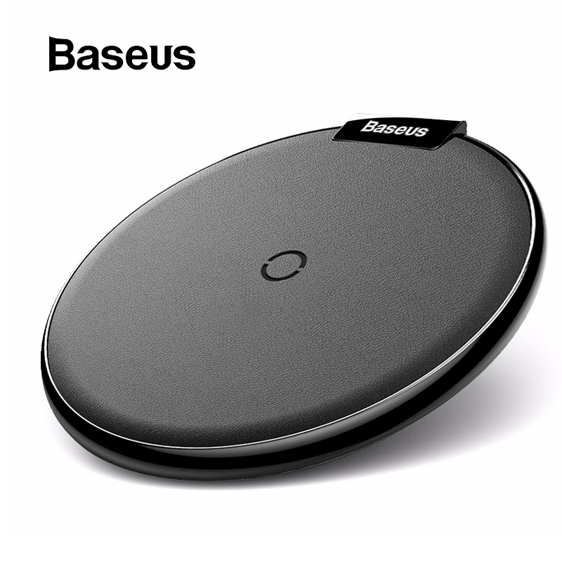 Baseus Leather Wireless Charger For iPhone 11 Pro Xs Max Xr X 8 Plus Desktop Wireless Charger Pad For Samsung S10 S9 Xiaomi Mi 9