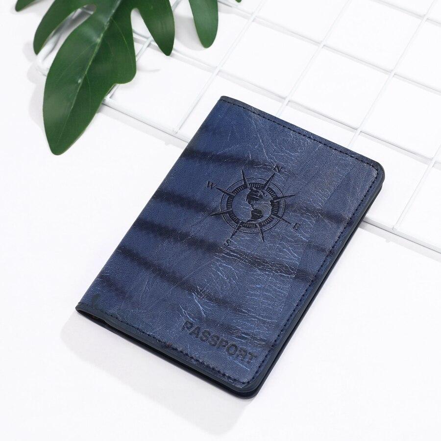 Earth Compass Travel PU Leather Passport Cover Case Women Men Travel Accessories Document ID Holder Travel Passport Holder CH07B